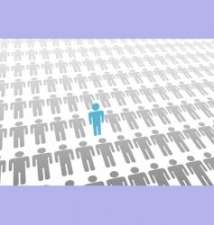 stand out vector image vector image