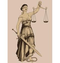 Symbol of justice Femida vector image