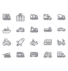 Transport icons 2 vector