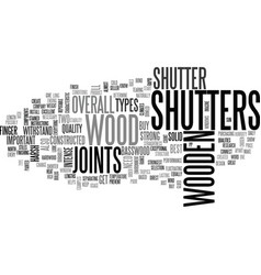 Wooden window shutters text word cloud concept vector