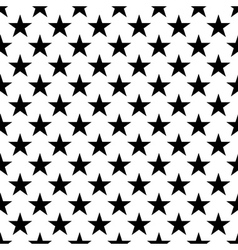 Stars seamless pattern small black white vector image