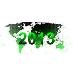 World map 2013 vector image