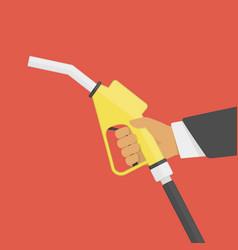 Fuel pump in hand vector