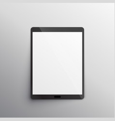 Tablet device mockup design vector