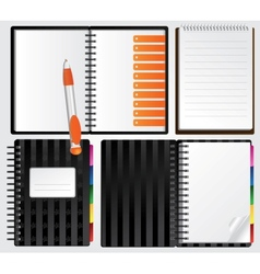 Notebooks for your presentations vector