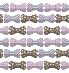 Bow seamless hipster pattern vector
