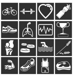 Health and fitness vector