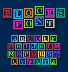 Learning blocks alphabet vector