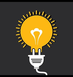 Innovation idea concept with bulb and plug vector