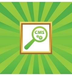Cms search picture icon vector