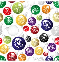 Shiny christmas decoration with snowflake seamless vector