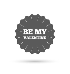 Be my valentine sign icon love symbol vector