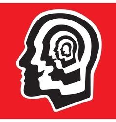 Human brain  psychology vector