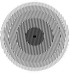 Optical illusion circle vector