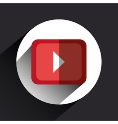 Video movie play vector