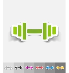 Realistic design element barbell vector