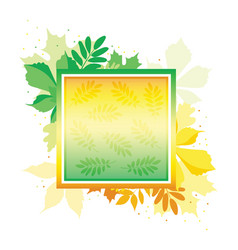 bright gradient banner with autumn leaves frame vector image vector image