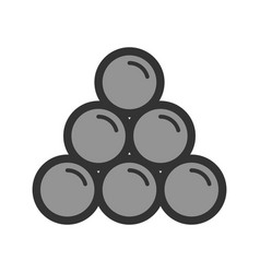 Cannon balls vector