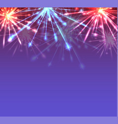 card with new year multicolored fireworks with vector image vector image