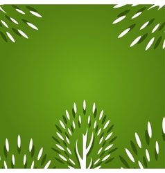 Decorative trees background vector image