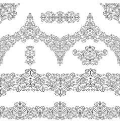 Ethnic seamless pattern borderselementsSwirls vector image