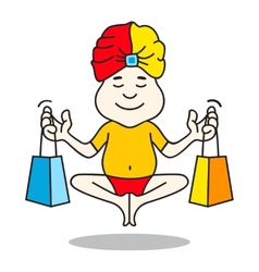 Expert guru shopping logo vector