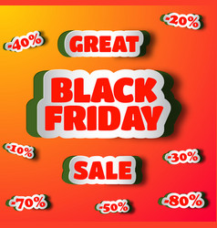 Great sale on black friday design concept vector
