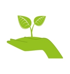hand recycle envioment nature energy design vector image