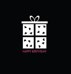 Happy birthday box vector