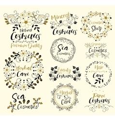 Herbal CareSea CosmeticsMineralOrganicHair vector image vector image