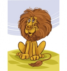 lion smiling vector image vector image