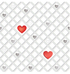 Love heart seamless pattern valentine day holiday vector