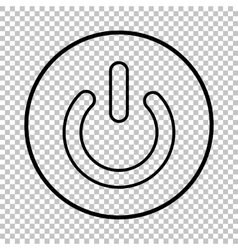 On off switch line icon vector
