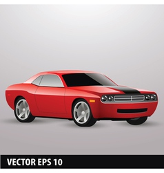 Red american car vector
