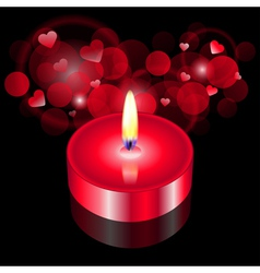 red candle vector image vector image