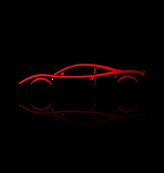 Red sport car silhouette vector