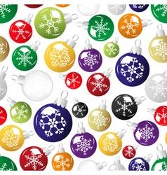 shiny christmas decoration with snowflake seamless vector image vector image