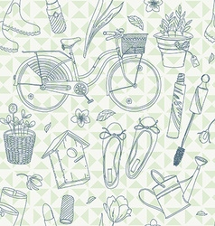 Spring patterned background vector