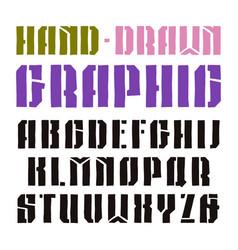 stencil-plate sanserif font vector image