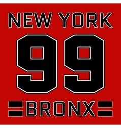 t-shirt New York vector image vector image