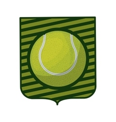 tennis tournament emblem with ball vector image