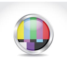 Tv color button vector