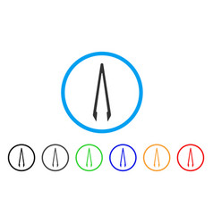 Tweezers rounded icon vector