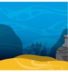 Under sea landscape icon Sea life design vector image