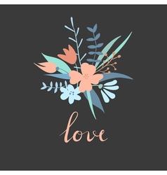 Valentine trendy card vector image vector image
