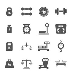 weight scales balance heavy luggage kilogram vector image