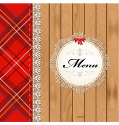 Scottish menu vector