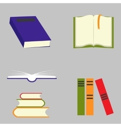 Book signs set vector image