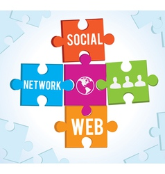 puzzles of the social network vector image