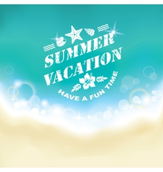 Summer marine background vector image